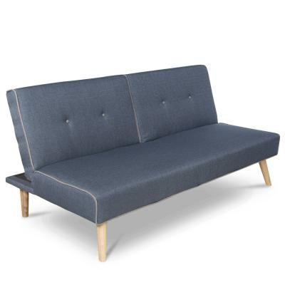 Nyitható kanapé, kattanós, szürke - MITSUKO